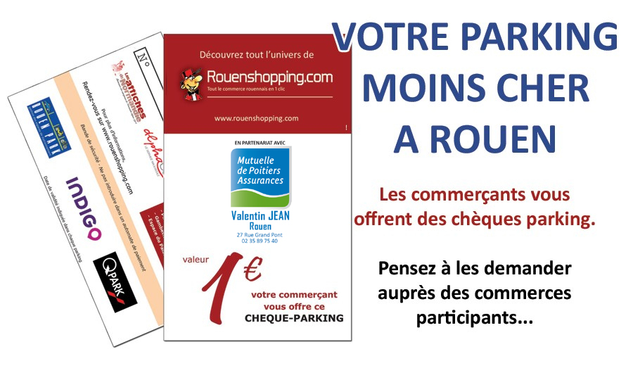 chèques parkings Rouenshopping